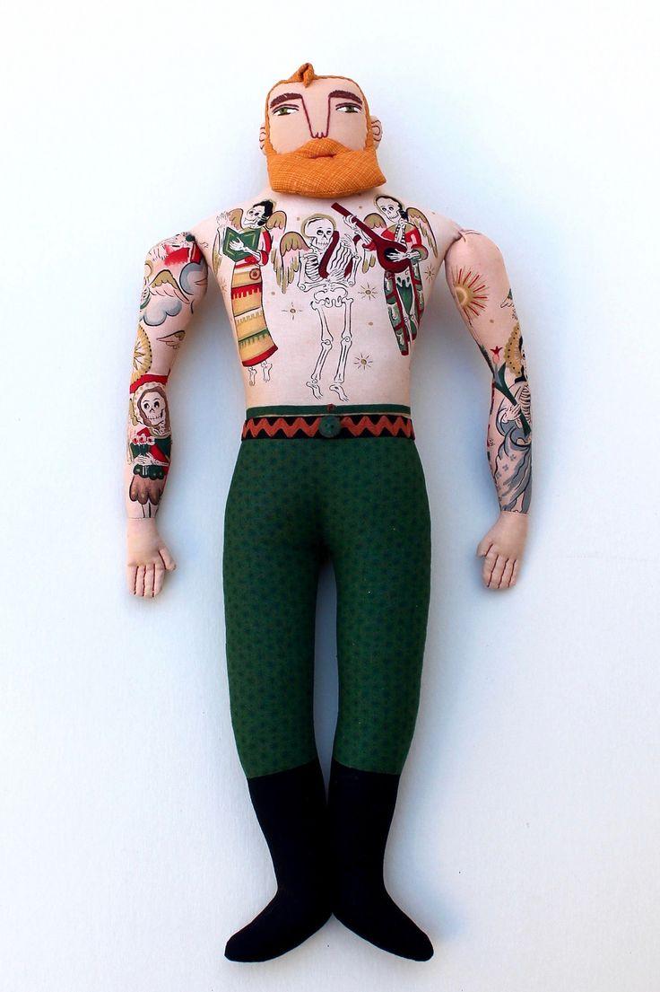 https://flic.kr/p/NsWxBD | tattoos, skeletons, Christmas | blogged- mimikirchner.com/blog/archives/2016/11/tattooed-man-4-blo...