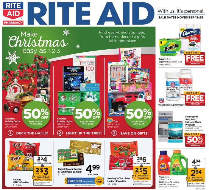 Rite Aid Weekly Ad Nov 19 - 25, 2017
