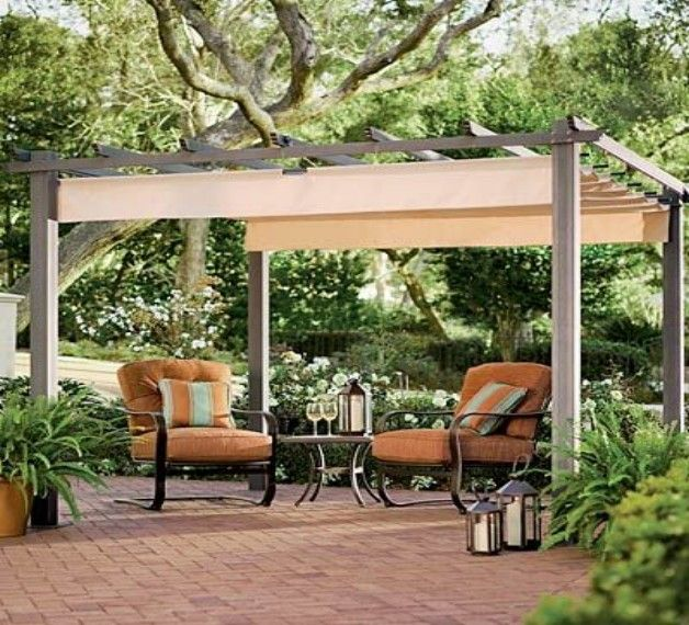 Pergola shade cover ideas - Sluier shading pergola ...