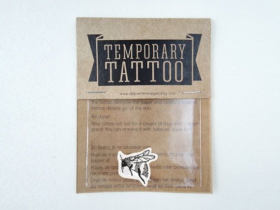 Hommel tijdelijke tatoeage