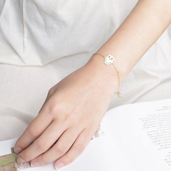 Bracelet hiboux doré