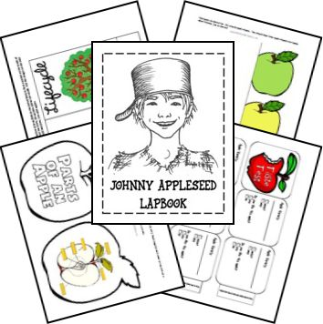 FREE Johnny Appleseed Lapbook - Frugal Homeschool Family