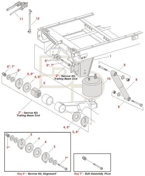 dana  rs 23  25  30 trailer air ride suspensions