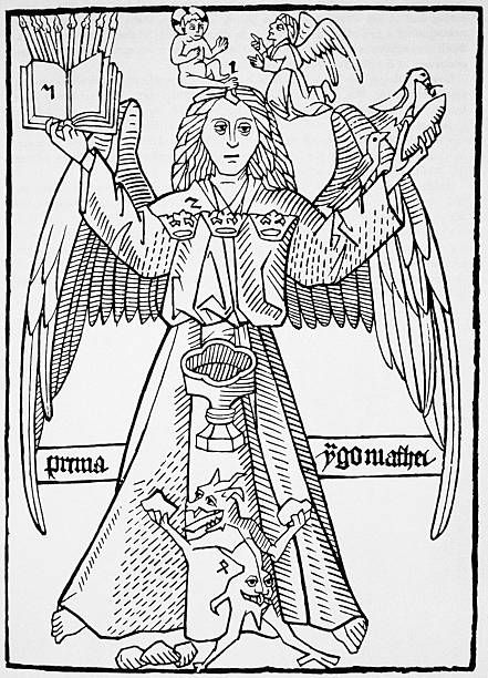 Print of a Winged Figure from Ars Memorandi