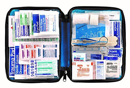 Be ready for all potential emergencies at home in the car outdoors or on the water. First Aid Only offers this 299 pieces all-purpose soft-sided first aid kit developed to save time and frustratio...