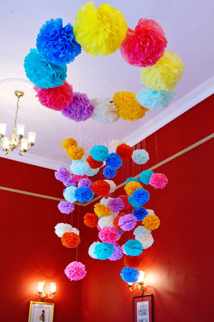 268 best Pom Poms Garland images on Pinterest Birthdays Pom