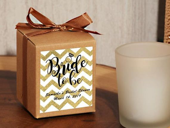 24 Personalized Bride To Be Chevron Bridal Shower Party Favor - Rustic Votive Holder Favor - Rustic Bridal Shower Favors - 503-Bride Chevron