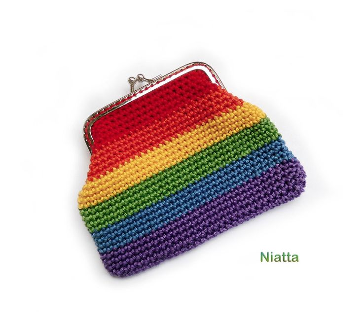 Excited to share the latest addition to my #etsy shop: rainbow coin purse, crochet gift for her bag, metal frame purse, change purse, kiss clasp retro bag, money pouch, personalized http://etsy.me/2FpCM49 #bagsandpurses #rainbow #kissclasp #giftforher #eg