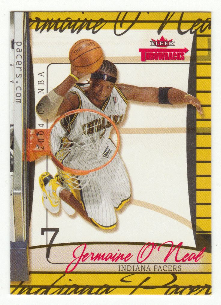 Jermaine O'Neal # 12 - 2004-05 Fleer Throwbacks Basketball