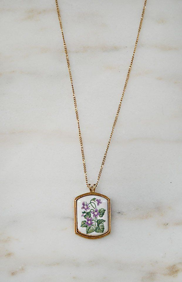 Little Violets Necklace / Vintage Jewelry at Adored Vintage