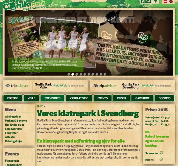 Det er sjovt, udfordrenden og anderledes at fejre Blå Mandag i Gorilla Park Svendborg #blåmandag
