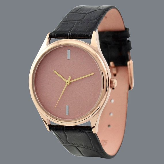 Simple montre (Or Rose) http://www.etsy.com/fr/listing/113206156/simple-montre-or-rose