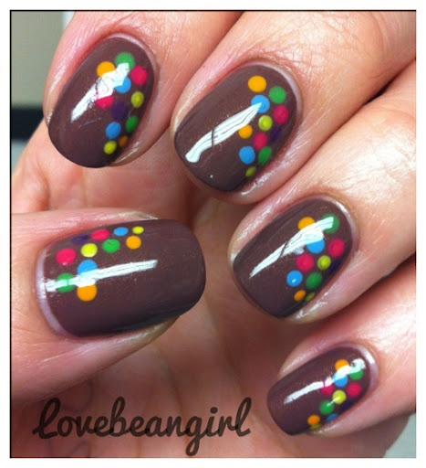 brown colored dots