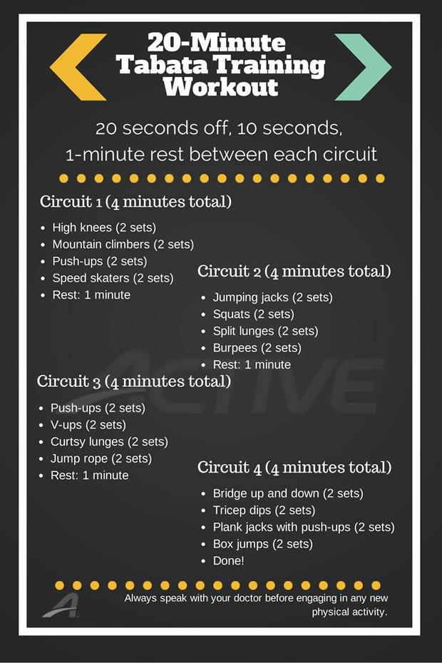 20 minute workout http://www.active.com/fitness/Articles/Infographic-20-Minute-Tabata-Training-Workout.htm?cmp=282&memberid=157083161&lyrisid=44049590&email=mkkyler@gmail.com&gender=F&dob=19820302+00:00