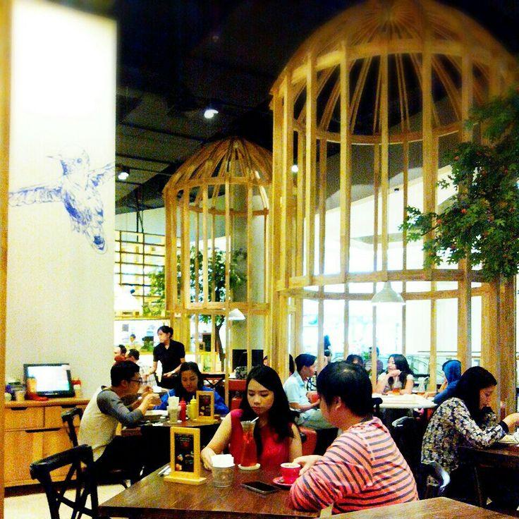 HummingBird Interior, u will know how birds are feeling in the cage. #cafe #restaurant #interior #unique #cozy