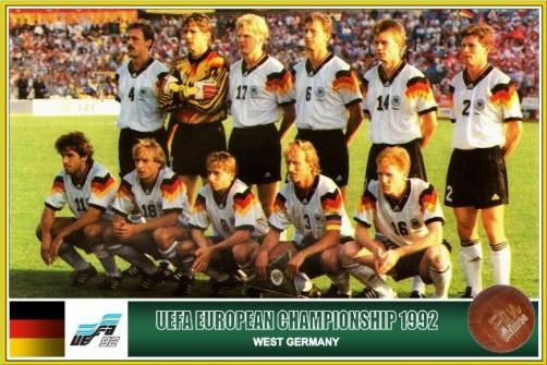 Germany home.  1992 - 1994.  Klinsmann, Hassler, Riedle et al.