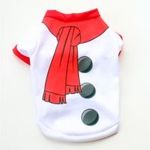 Christmas Dog Clothes for Dogs Coats Snowman Chihuahua Winter Dog Christmas Costume Pet Clothes Warm Pet Cat Coat Clothing()