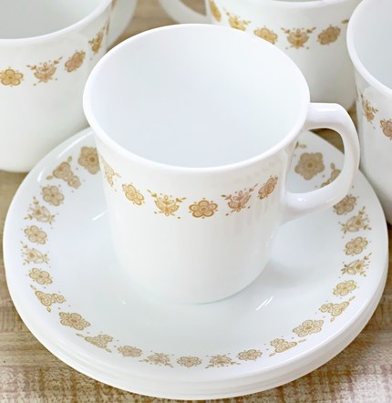 My grandparents had this set. I'm sure I sipped my first cup of coffee out of this pattern