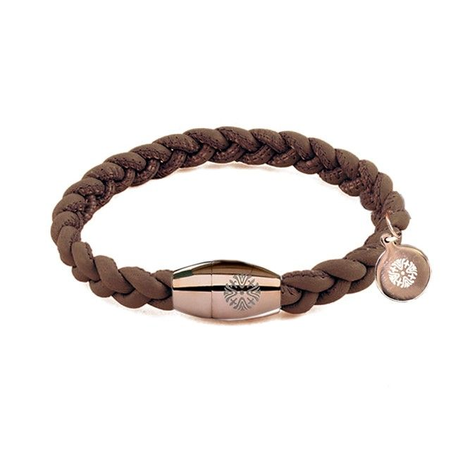 Bracciale Pelle Qudo Codino slim collection marron glacé