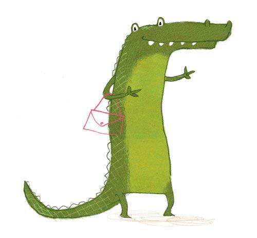 Bright Baby loves crocodile illustration by Ada Grey Kids Illustrations #BrightBaby www.bright-baby.com