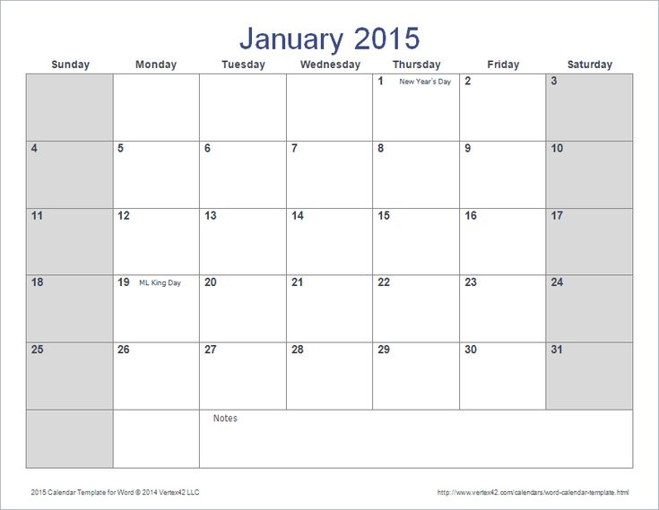 Download a free calendar template for Microsoft Word. Designed similar to our calendars for Excel.