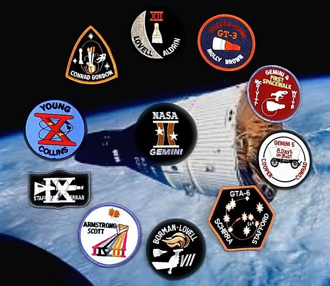 Gemini Space Mission Badges - Pics about space