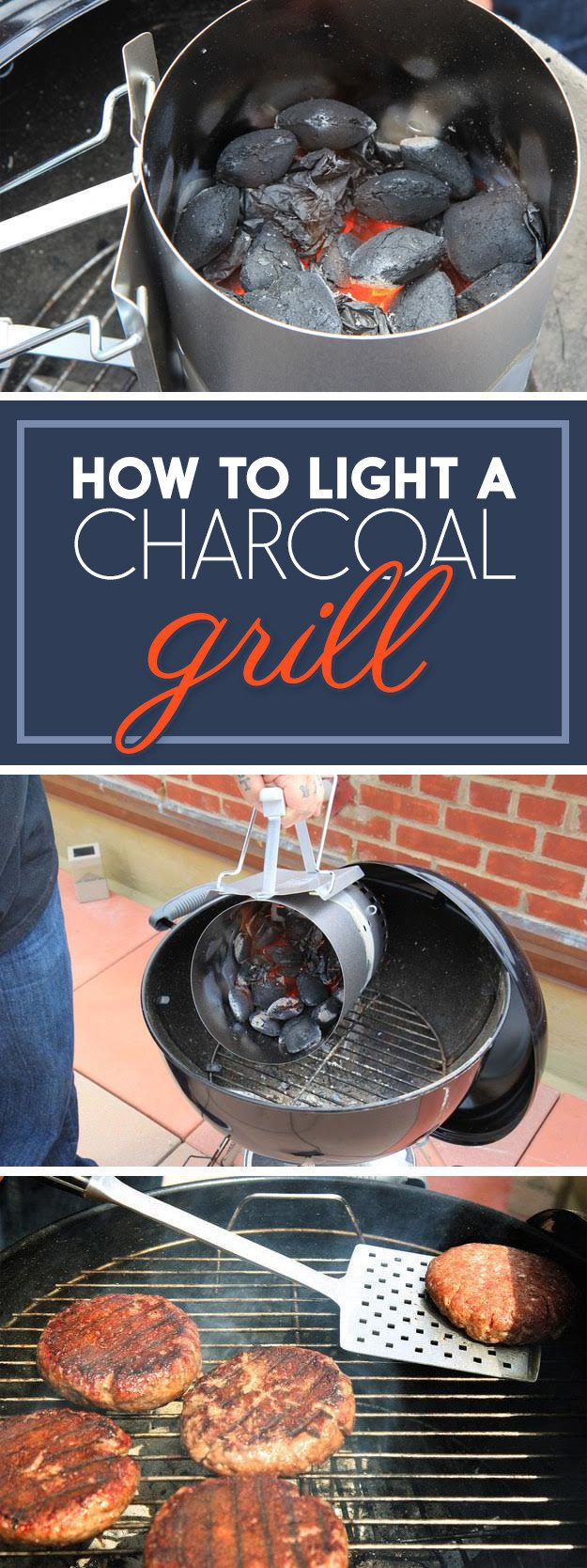 Here's Exactly How To Light A Charcoal Grill