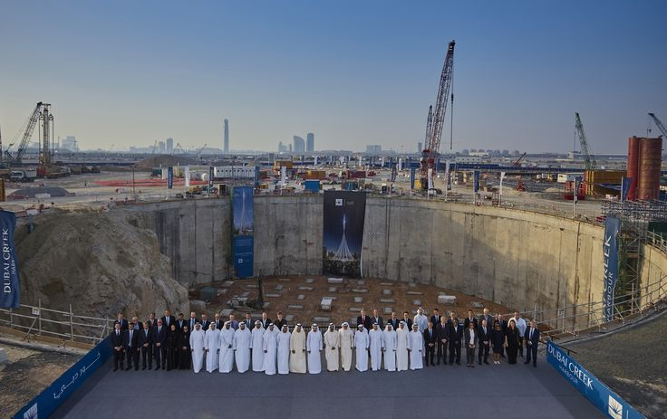 Sheikh Mohammed reviews progress of 'The Tower at Dubai Creek Harbour'