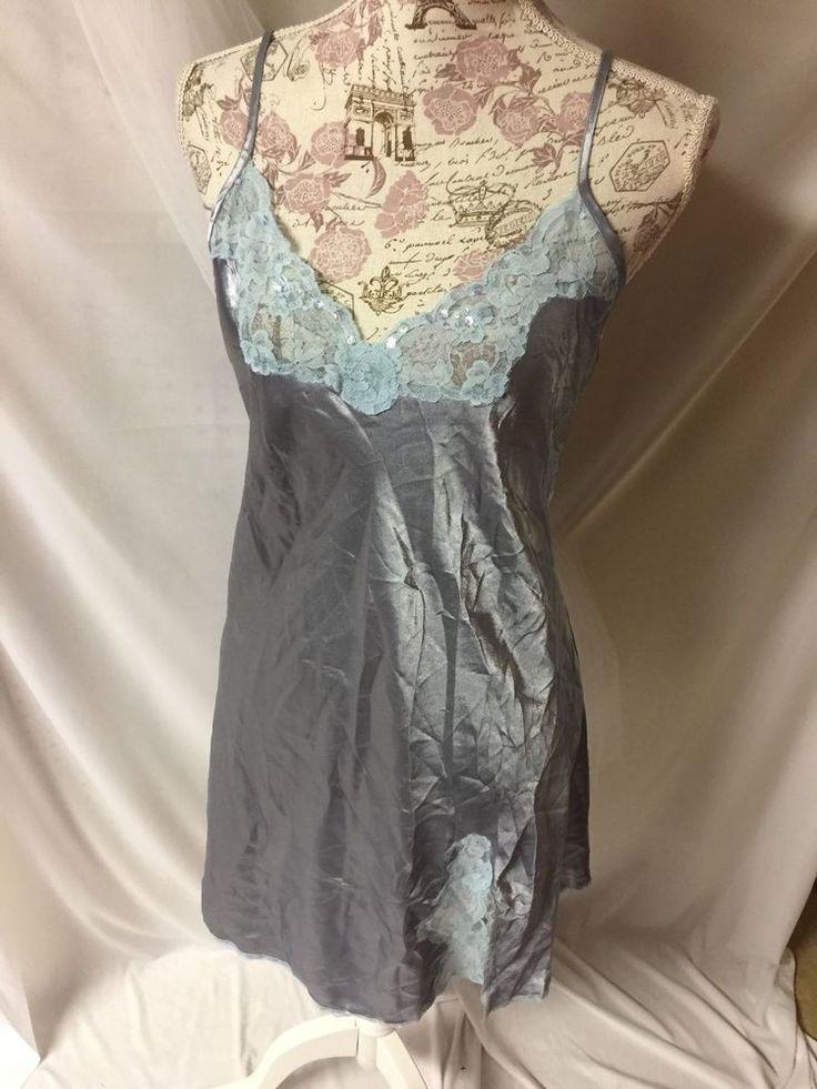 Gilligan & O'Malley Intimates Silky Nighty Night Gown Teddy Lingerie M #GilliganOMalley #Teddy