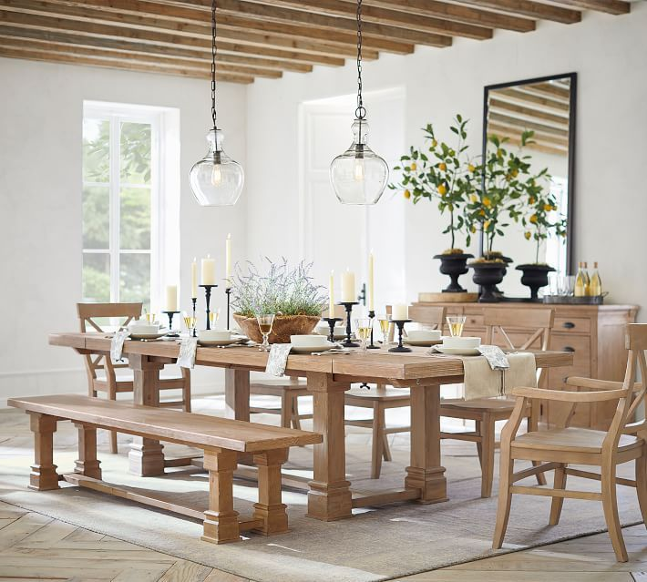 Lucca Extending Dining Table Pottery Barn Wood Dining Room Dining Table Dining Room Table