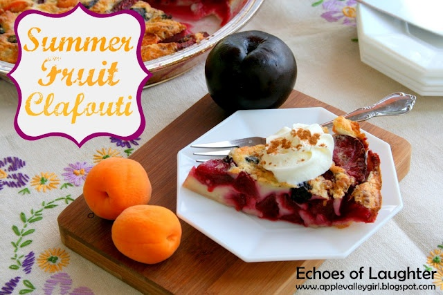 Wonder if my family would like this to use up some older fruit?Summer Fruits, Easy Recipe, Summer Desserts, Fruit Clafoutis, Simple French, French Desserts, Extreme Delicious, Favorite Recipe, Fruit Desserts