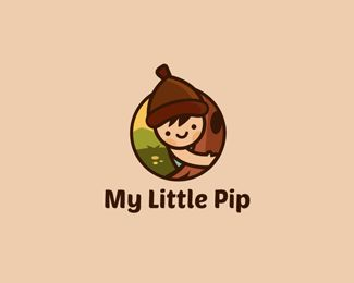 My Little Pip Logo Inspiration Gallery | More logos http://blog.logoswish.com/category/logo-inspiration-gallery/ #logo #design #inspiration
