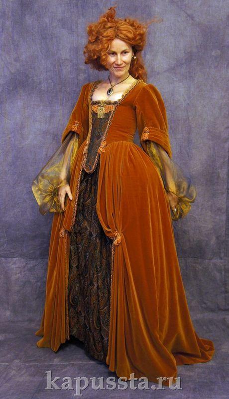 Платье бархатное с органзой