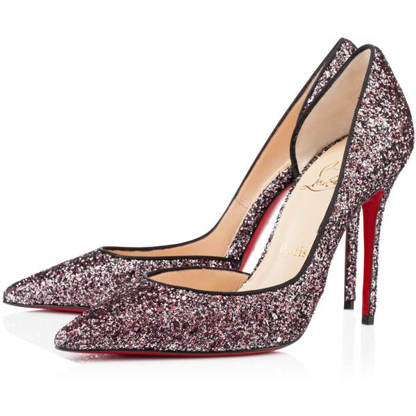 Christian Louboutin Iriza (20,820 THB) ❤ liked on Polyvore featuring shoes, pumps, heels, louboutin, christian louboutin, new arrivals, rose antique, glitter pumps, glitter shoes and sexy high heel pumps