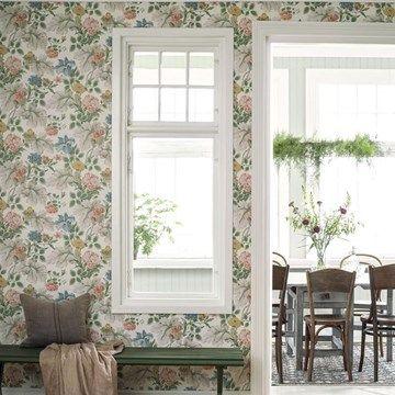 Engelska Tapetmagasinet - Boråstapetere - blommiga - somriga - tapeter Carnation Garden