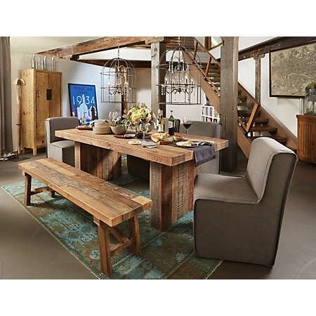 Rustic Charm Exudes From Scottsdale Dining. Its Weathered, Distressed  Finish Allows The Natural Beauty U0026 Character Of The Solid Pine To Stand Out.