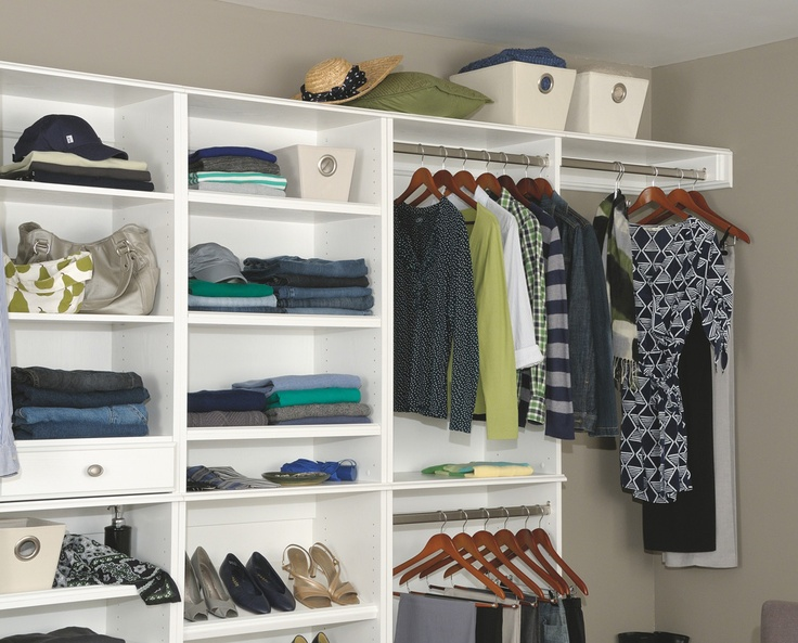 41 best closet images on pinterest closet ideas closet for Woodtrac closets