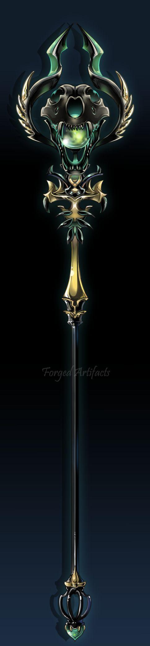 Custom: Werewolf Magic staff by Forged-Artifacts.deviantart.com on @DeviantArt