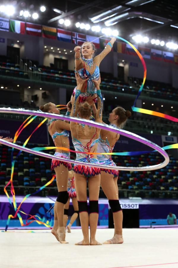 Russian group at training in Baku (c) Barny Thierolf / russland.RU - more photos http://www.russland.ru/europaspiele-erstes-gymnastik-gold-fuer-russland-mit-fotos/