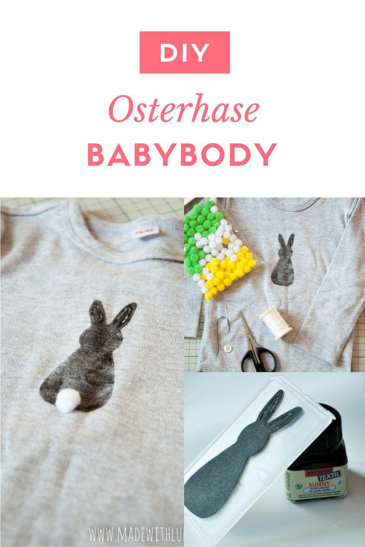 Passend zu Ostern: Die Anleitung zu diesem süßen und einfachen Osterhasen-Babybody findet ihr auf meinem Blog. Auch die Kleinsten wollen schick rumlaufen.