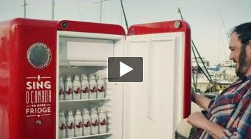 Molson Creates Fridge That Gives Free Beers If You Sing The Canadian National Anthem