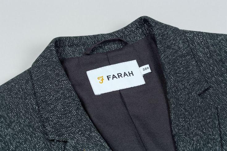 Branding for UK men's fashion brand Farah Farah by graphic design studio Post