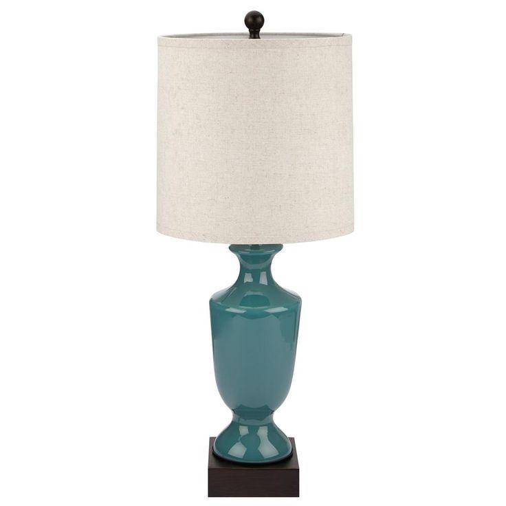 Lampe de table avec base en verre lampes de table for Table base en verre