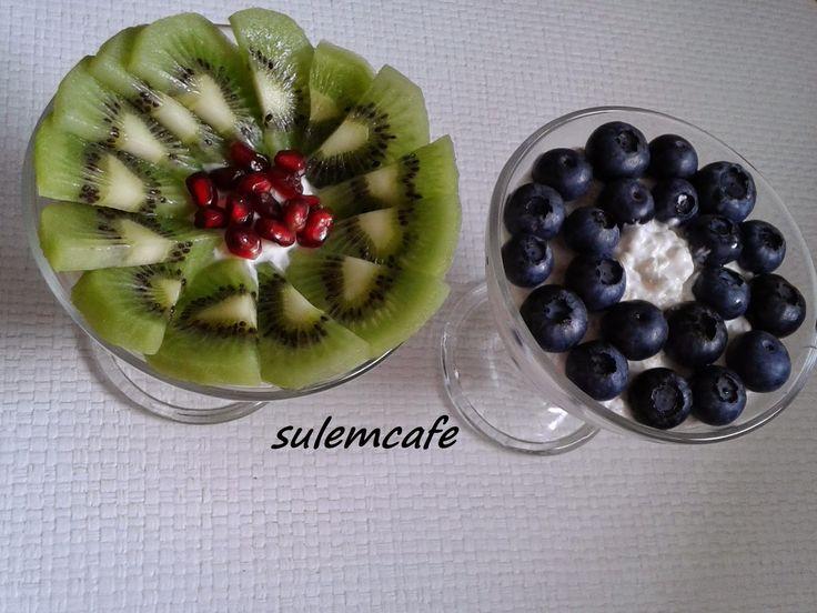 Sulem Cafe: KINOALI  YOGURTLU MEYVELI SALATA  #snacks #healthy #fit