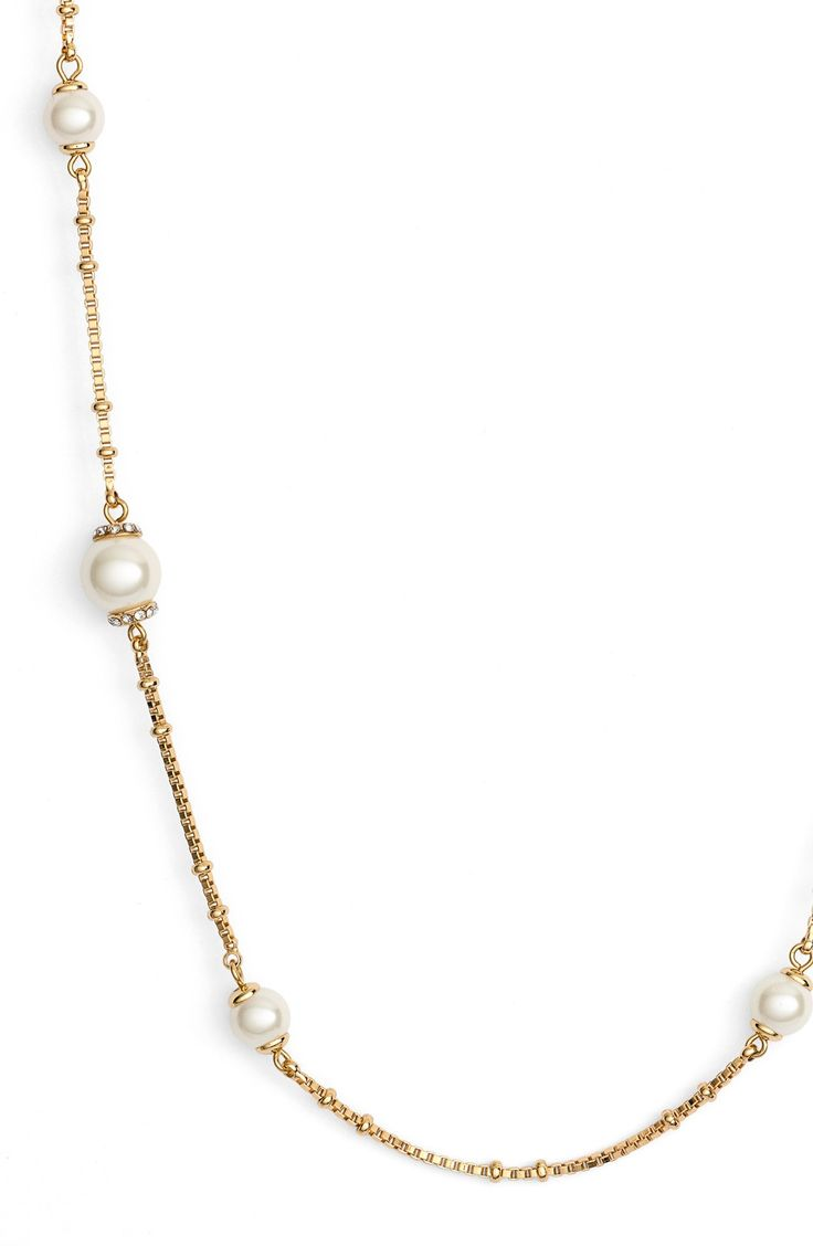 'pearls Of Wisdom' Long Station Necklace Long Layeredkate Spadejewelry