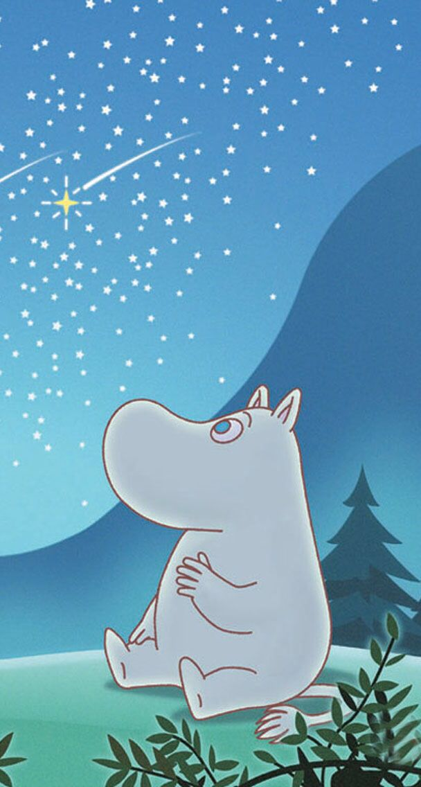 Moomin troll watching stars~~