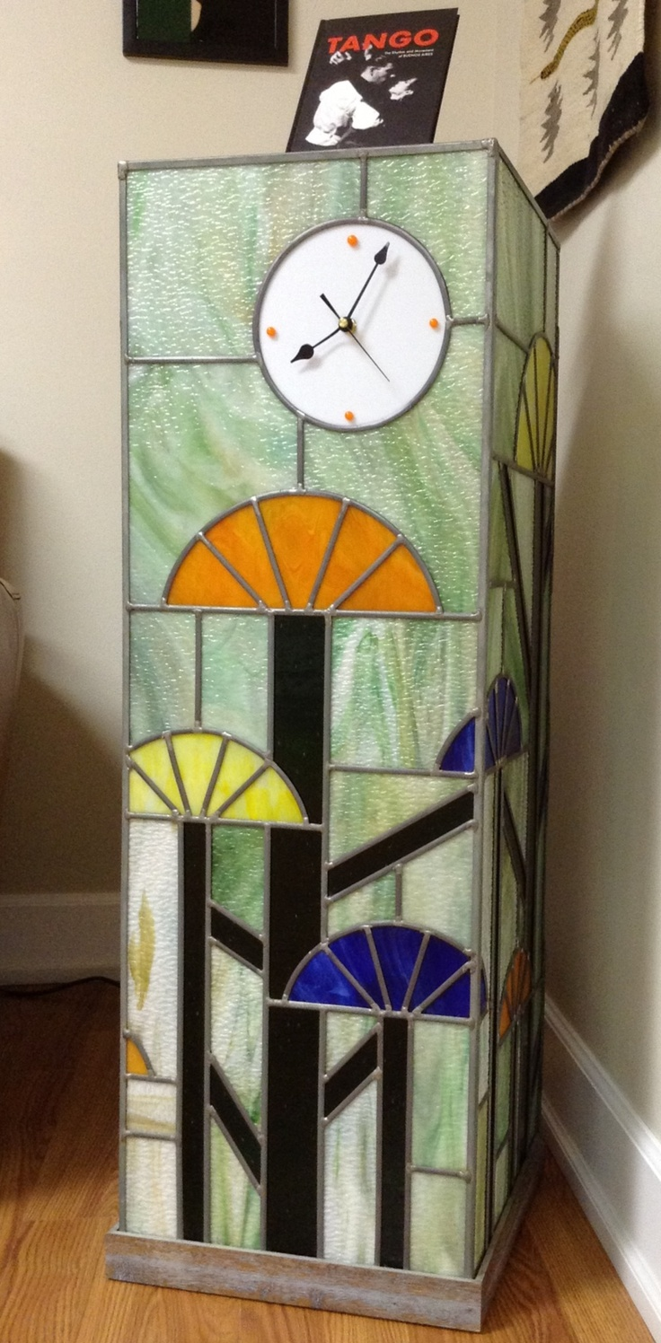39 Best Images About Stained Glass Clocks On Pinterest