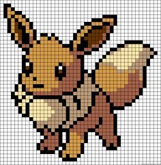 Eevee - Pokemon perler bead pattern                                                                                                                                                                                 More