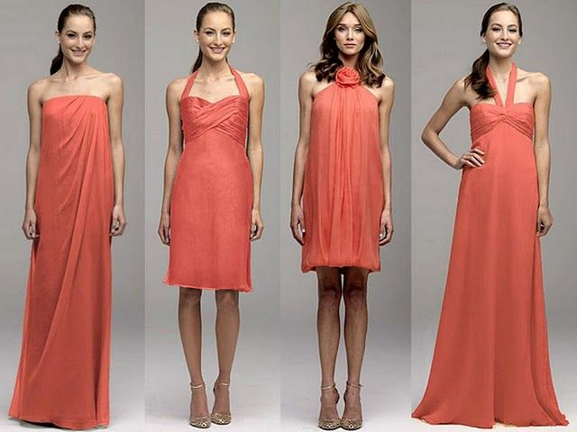 Coral+Coloured+Dresses