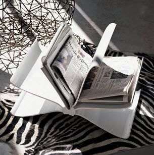 Contemporary magazine rack FRONT PAGE by Front  Kartell